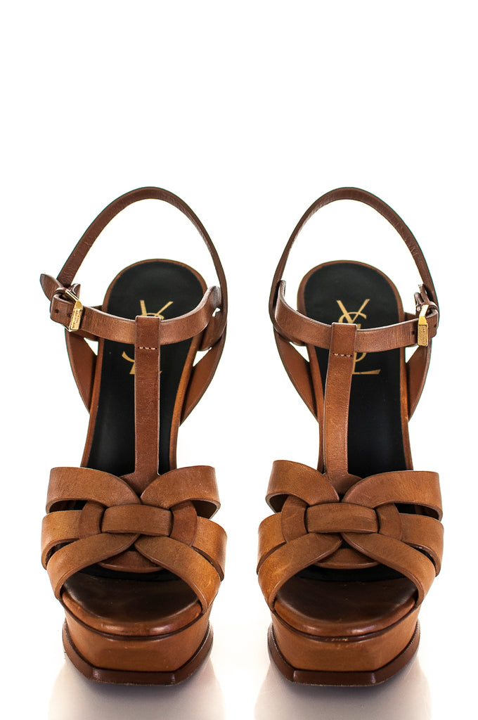 Yves Saint Laurent Tribute platform sandals Size 7 | EU 37 [25% OFF] - OWN THE COUTURE