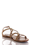 Jimmy Choo chain embellished Nickel sandals Size 9 - OWN THE COUTURE