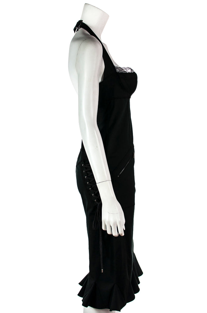Christian Dior black bustier lace-up dress Size S | FR 38 - OWN THE COUTURE