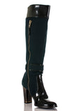 Stella McCartney canvas and vegan leather knee high boots Size 8 - OWN THE COUTURE