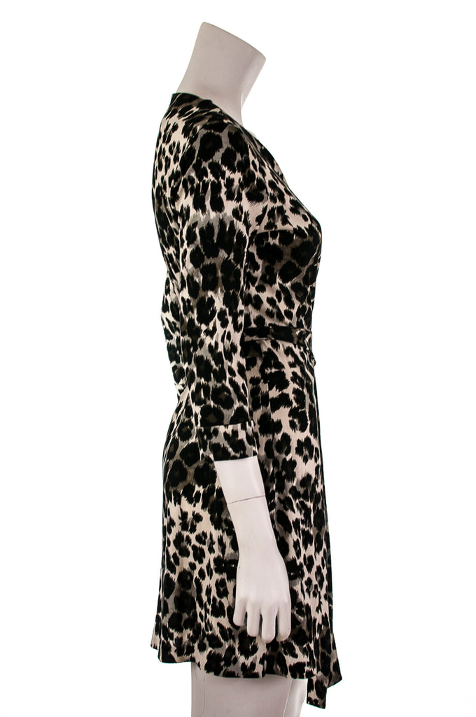Diane von Furstenberg New Julian Two mini animal print wrap dress Size M | US 8 [20% OFF] - OWN THE COUTURE