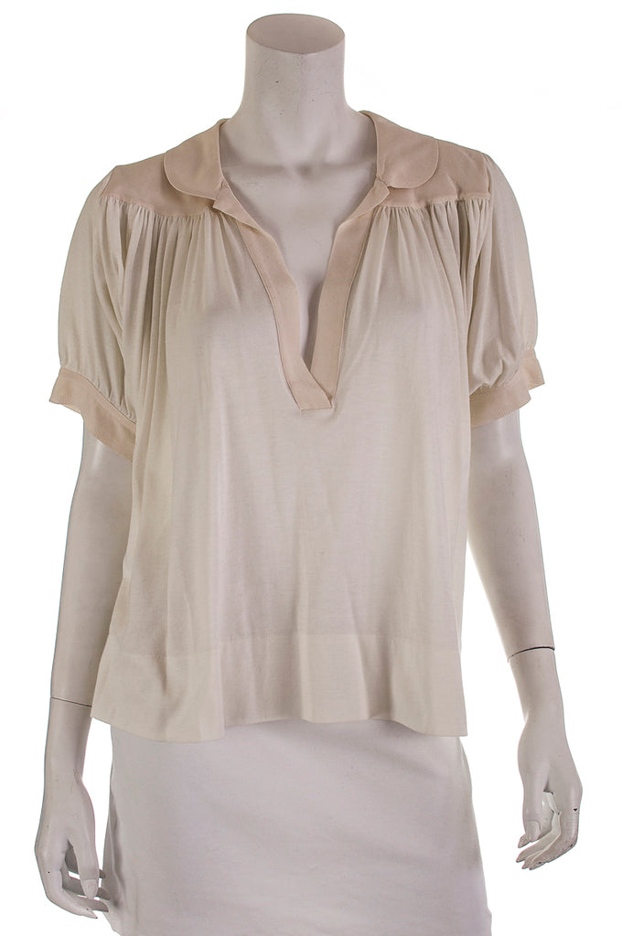 Chloé v neck short sleeve top Size M - OWN THE COUTURE