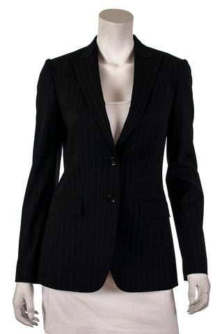 012b0b0ab8674 Dolce   Gabbana single breasted pinstriped blazer Size S