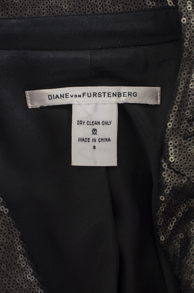Diane von Furstenberg Little M sequin jacket Size S | US 6 - OWN THE COUTURE  - 5