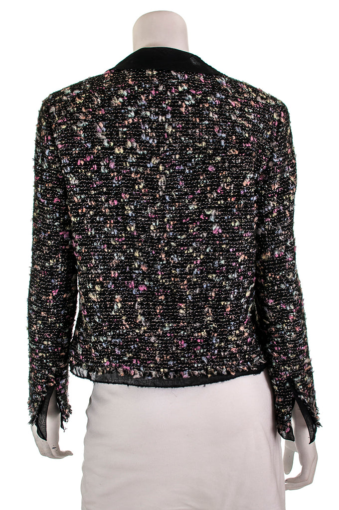 Chanel chiffon trim tweed jacket Size L | FR 42 - OWN THE COUTURE