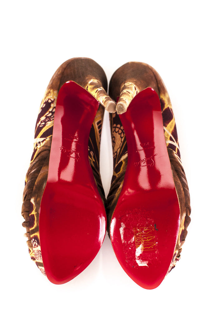 Christian Louboutin Bazin Jenny peep toe pumps New Size 9.5 [40% OFF] - OWN THE COUTURE