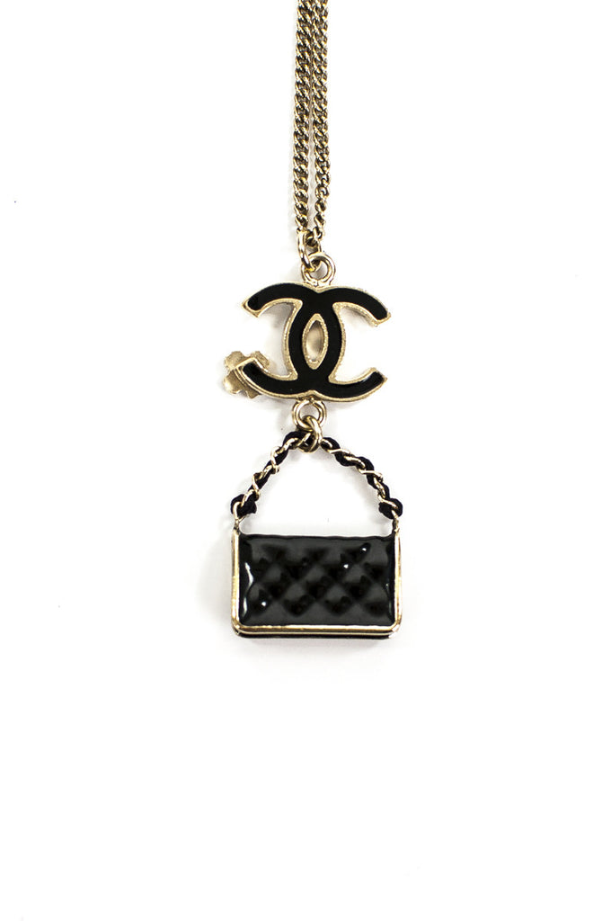 Chanel quilted handbag charm pendant necklace - OWN THE COUTURE  - 3