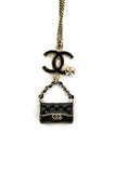 Chanel quilted handbag charm pendant necklace - OWN THE COUTURE  - 4