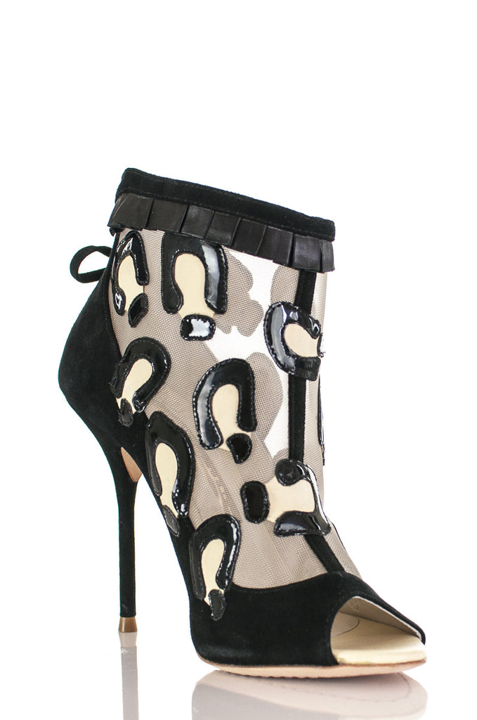 Sophia Webster leopard Sienna open toe ankle boots Size 5  [40% OFF] - OWN THE COUTURE