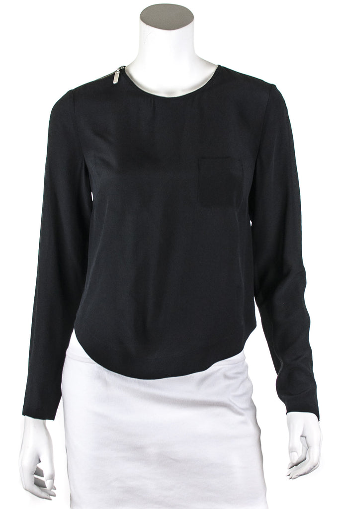 L.A.M.B. silk cropped top long sleeve top New w/ tags Size XS | US 4  [15% OFF] - OWN THE COUTURE
