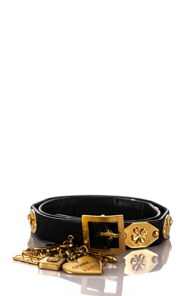 04a19c2f7efa ... Chanel leather Precious Symbols charm belt Size XS - OWN THE COUTURE ...