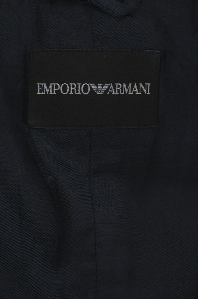 Emporio Armani collarless cropped jacket Size XXS | IT 38 - OWN THE COUTURE