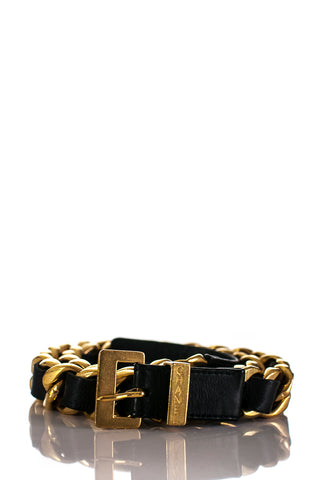 Louis Vuitton gold plated monogram flower charm bracelet