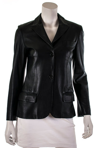 J Brand Lennox cropped leather jacket Size S  [20% OFF]