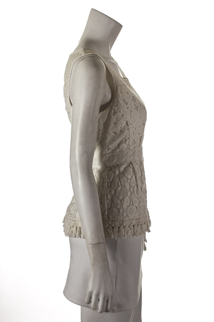 Nanette Lepore lace sleeveless top Size M | US 8 - OWN THE COUTURE