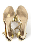 Jimmy Choo metallic Inka demi-wedge sandals Size 11.5 - OWN THE COUTURE  - 5