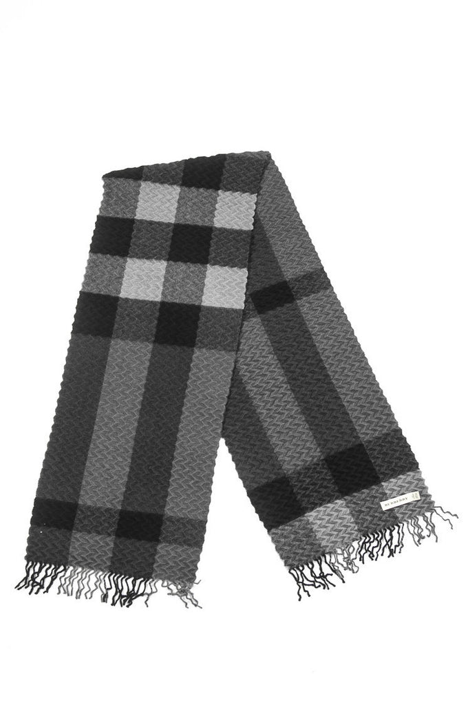Burberry waffle embossed cashmere check scarf  [10% OFF] - OWN THE COUTURE  - 1