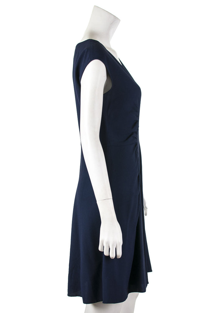 Prada sleeveless v neck crepe dress Size S | IT 42  [20% OFF] - OWN THE COUTURE