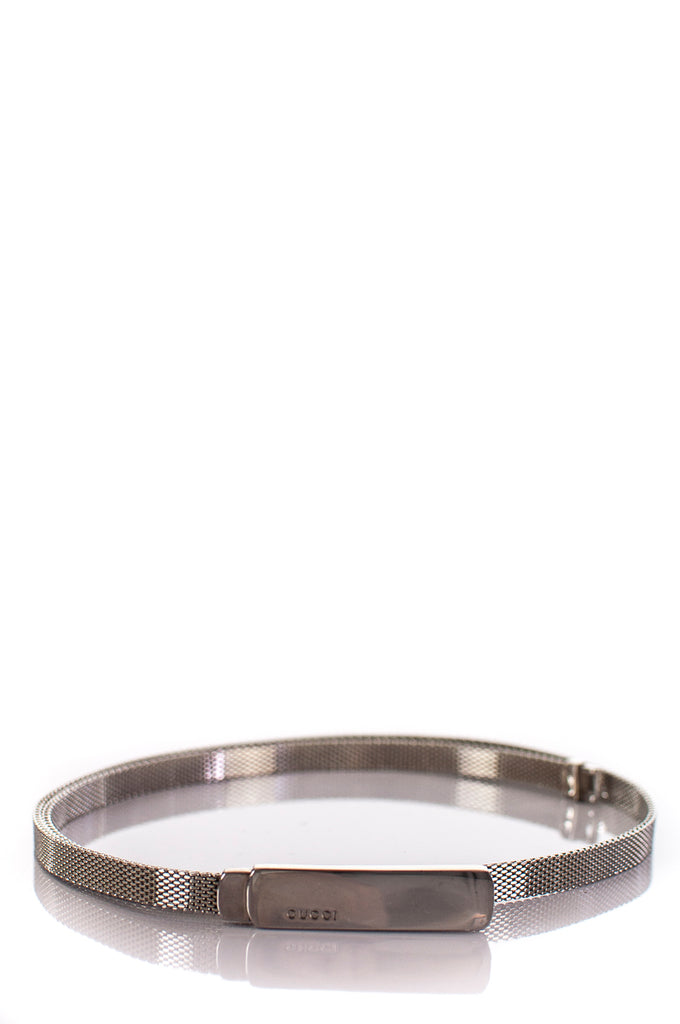 1e6fba72413 ... Gucci skinny metal woven chain belt S  20% OFF  - OWN THE COUTURE ...