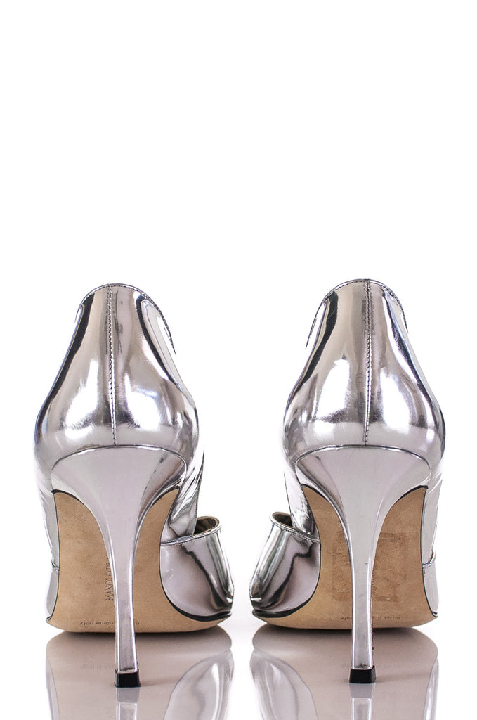 Manolo Blahnik metallic Kava peep toe pumps Size 10  [40% OFF] - OWN THE COUTURE