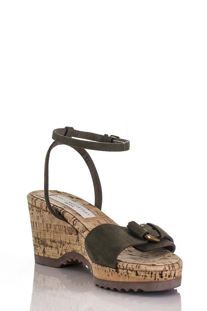 Stella McCartney cork wedge vegan leather sandals Size 8 [20% OFF] - OWN THE COUTURE