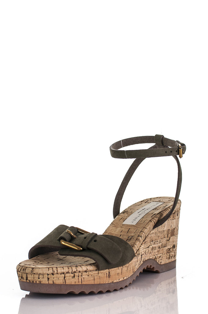 28980a8e665 ... Stella McCartney cork wedge vegan leather sandals Size 8  20% OFF  -  OWN ...