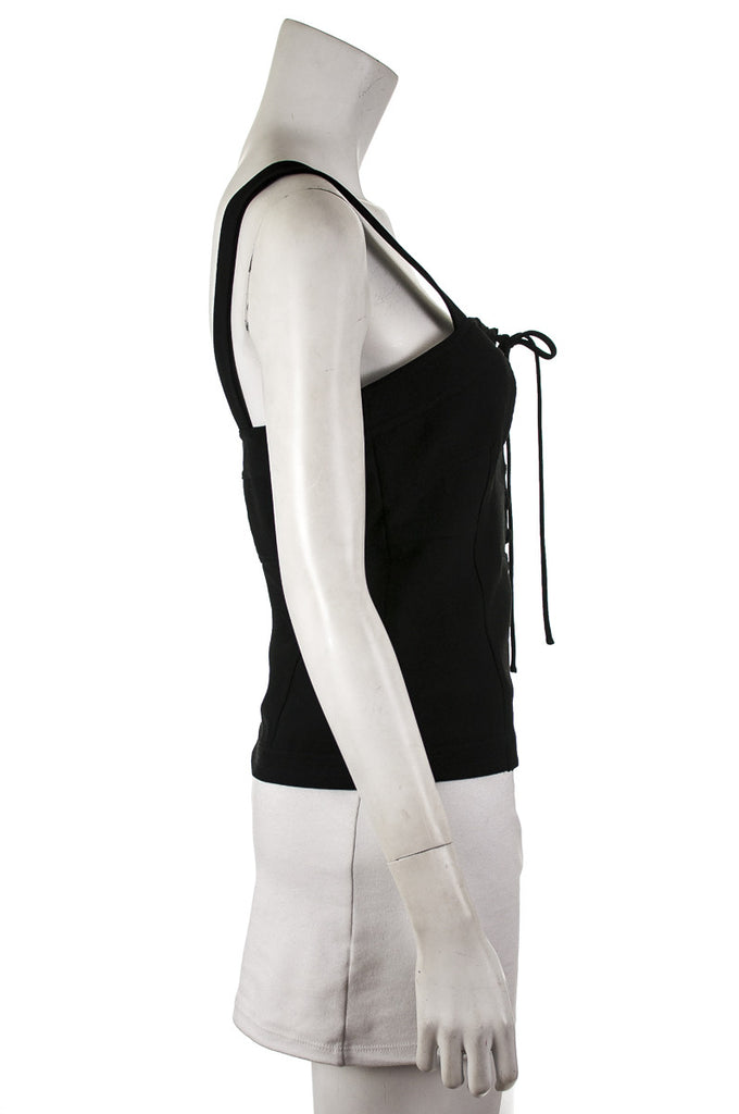 Diane von Furstenberg Avalon lace-up sleeveless top Size XL | US 14 - OWN THE COUTURE