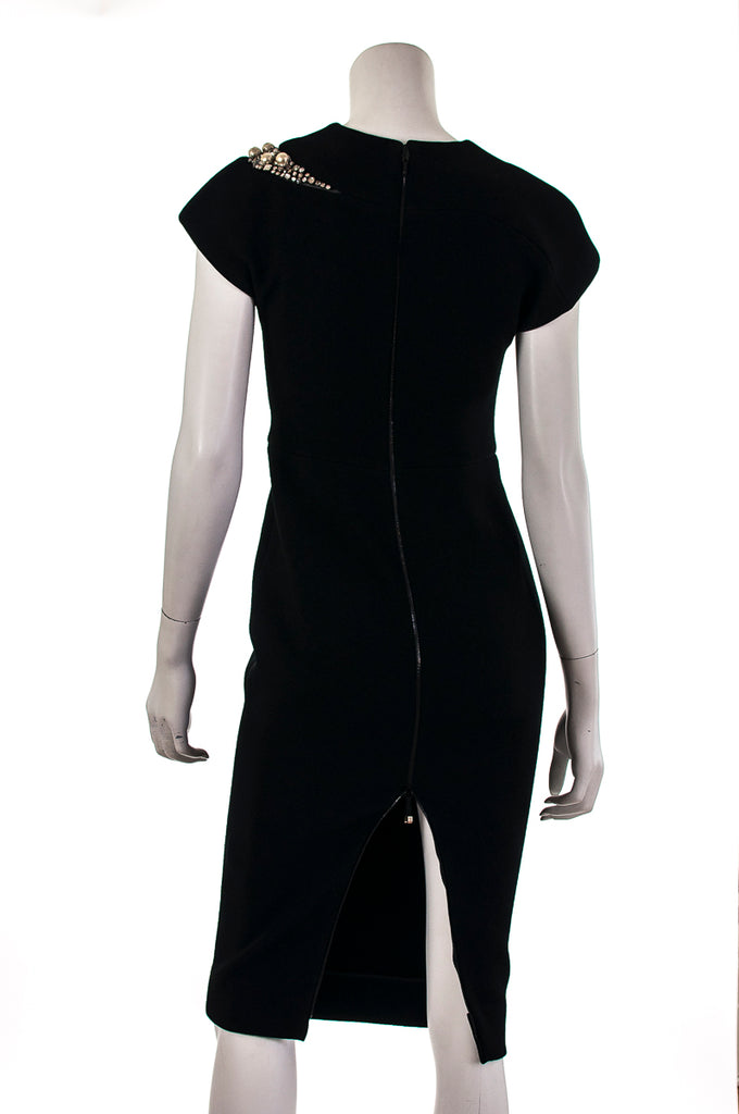 Victoria Beckham cap sleeve embellished dress Size XS | UK 8  [20% OFF] - OWN THE COUTURE