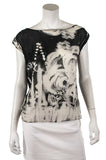 Alice + Olivia abstract print chiffon sleeveless top Size M - OWN THE COUTURE