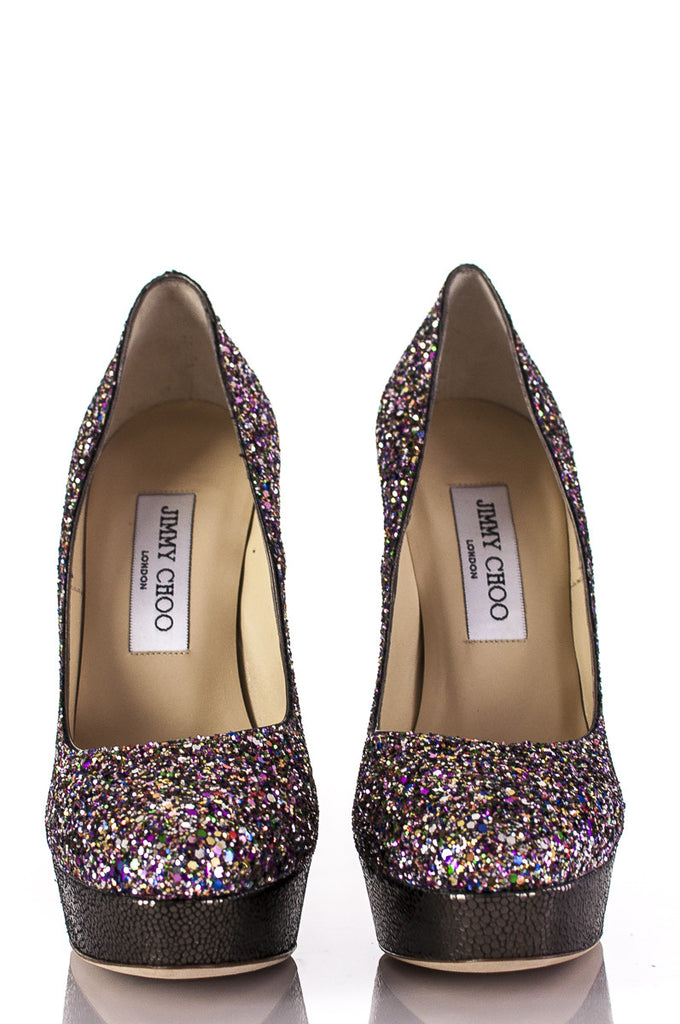 Jimmy Choo glitter Eros platform pumps New Size 7  [40% OFF] - OWN THE COUTURE