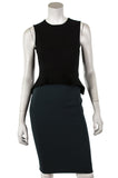 Stella McCartney two-tone peplum sleeveless shift dress Size XXS | IT 38 - OWN THE COUTURE