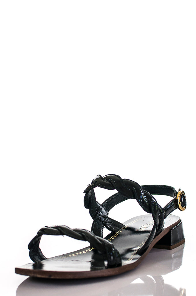 Prada braided patent leather sandals Size 7.5 - OWN THE COUTURE