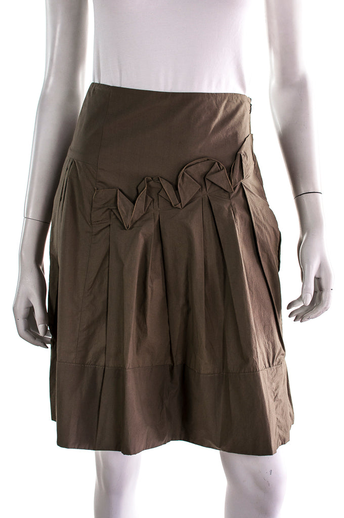 Marni pleated cotton skirt Size XXS | IT 38 [20% OFF] - OWN THE COUTURE