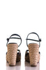 Gucci canvas monogram espadrilles wedge sandals Size 6.5 - OWN THE COUTURE