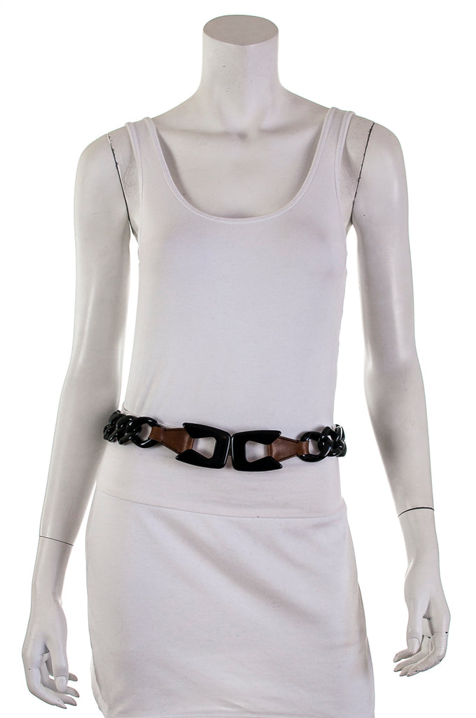 Prada acrylic chain link waist belt Size S - OWN THE COUTURE