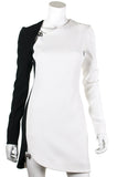 Mugler bi-colour crepe long sleeve mini dress New w/ tags Size S | FR 38  [20% OFF] - OWN THE COUTURE