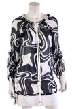 Milly printed silk chiffon tunic blouse Size S | US 6 - OWN THE COUTURE
