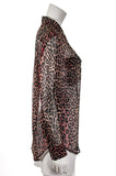 Equipment leopard print silk chiffon shirt Size S - OWN THE COUTURE