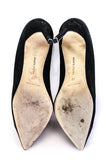 Manolo Blahnik suede Bipunta cap toe pumps Size 10 - OWN THE COUTURE