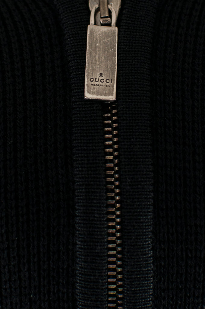 Gucci wool cashmere blend zip cardigan Size L - OWN THE COUTURE
