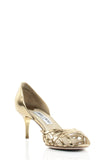Jimmy Choo metallic d'Orsay open toe pumps Size 8.5  [15% OFF] - OWN THE COUTURE