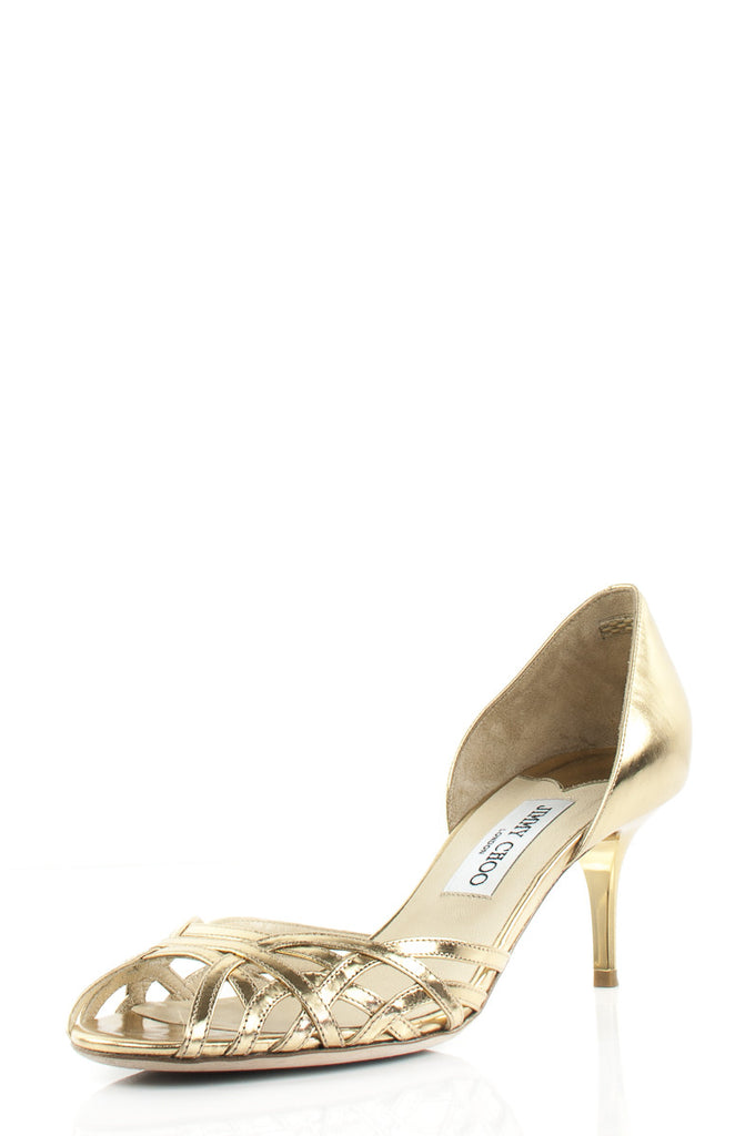 Jimmy Choo metallic d'Orsay open toe pumps Size 8.5  [15% OFF] - OWN THE COUTURE  - 1