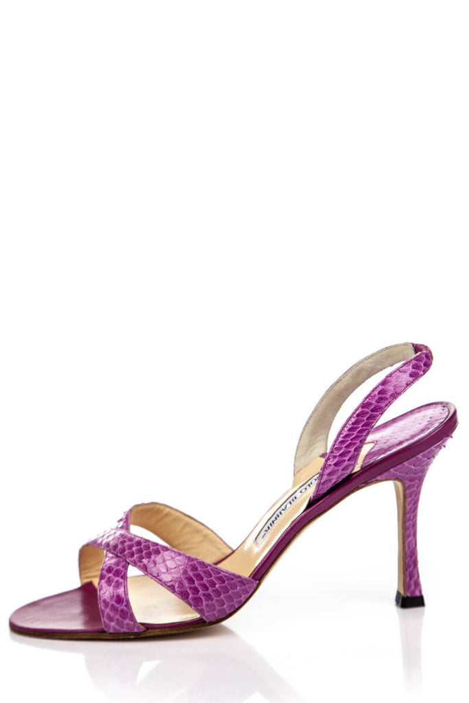 5171a42ce08f5 ... Manolo Blahnik Pink Snakeskin Sandals New Size 8.5 | EU 38.5 - OWN THE  COUTURE ...