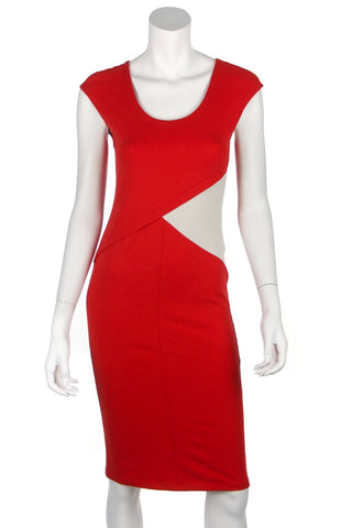 Mugler bi-colour crepe long sleeve mini dress New w/ tags Size S | FR 38  [20% OFF]