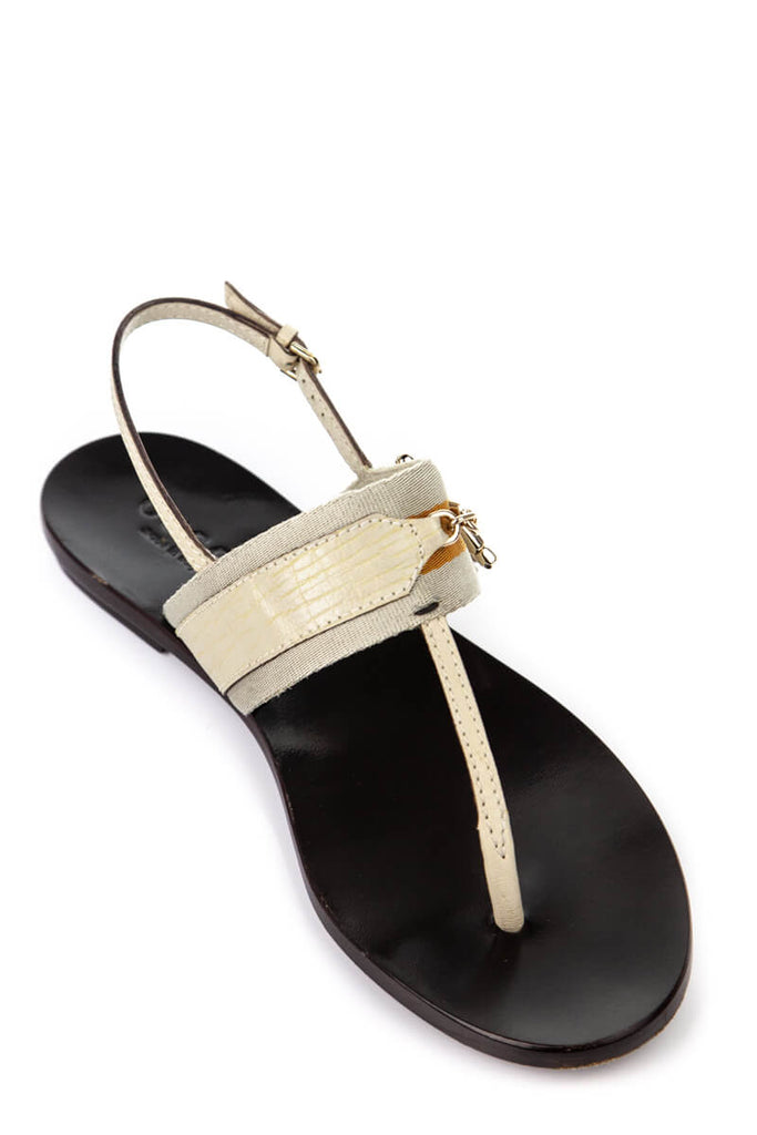 1bf9202be ... Gucci Beige and Orange Web Horsebit Thong Sandals Size US 8 - OWN THE  COUTURE ...