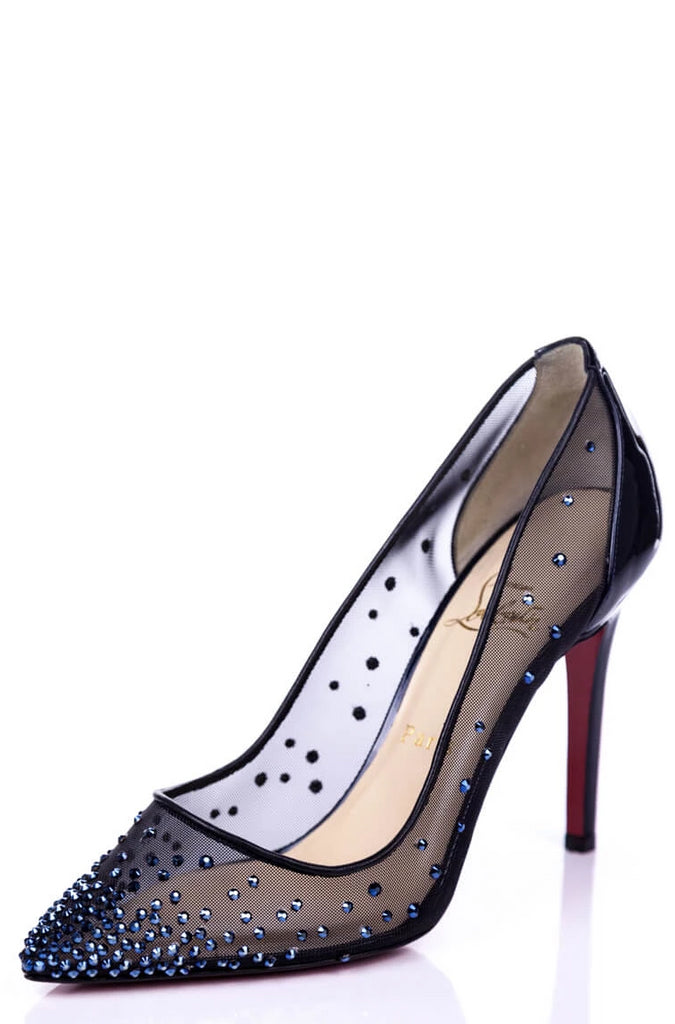 "Christian Louboutin Crystal Embellished ""Follies Strass"" Pumps New Size 8.5 