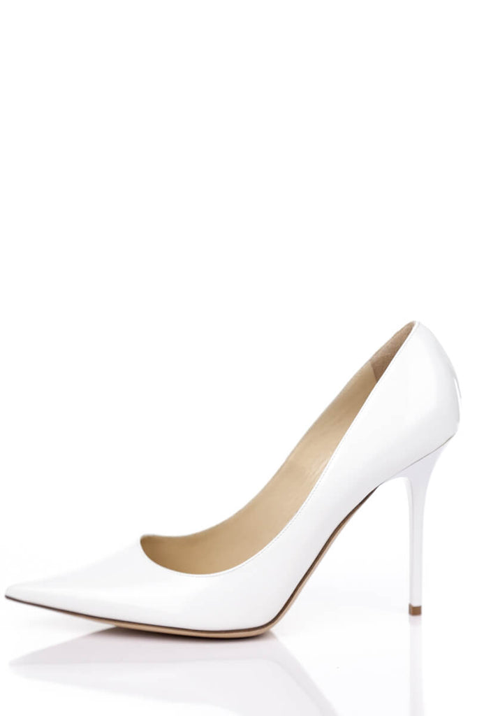 Jimmy Choo White Patent Leather Pumps New Size 8.5 | EU 38.5 - OWN THE COUTURE