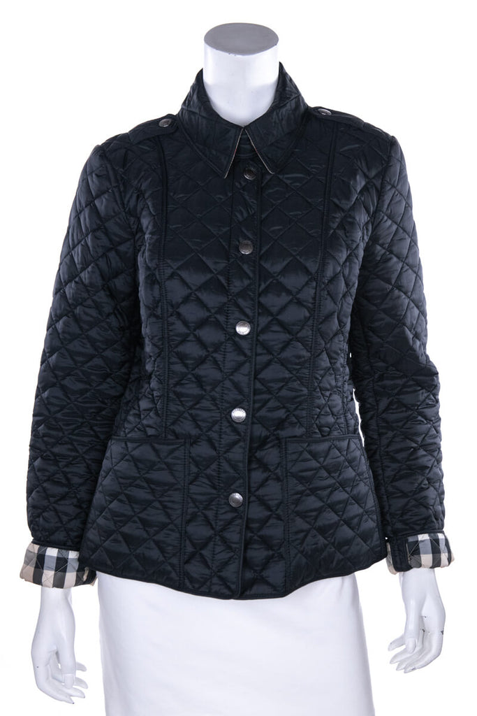 Burberry Brit Black Nylon Quilted Jacket Size M - OWN THE COUTURE