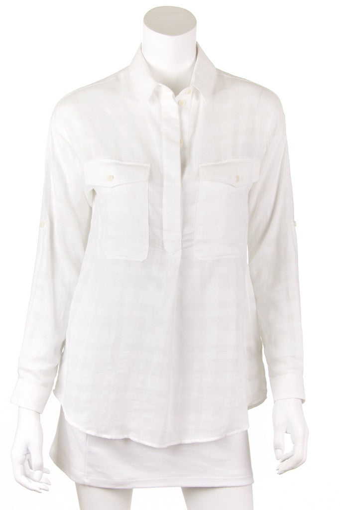 Burberry Brit tone on tone nova check shirt New with tags Size XS Petite  [20% OFF] - OWN THE COUTURE  - 1