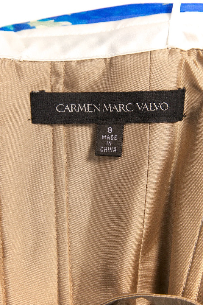 Carmen Marc Valvo one shoulder chiffon dress Size M | US 8 - OWN THE COUTURE
